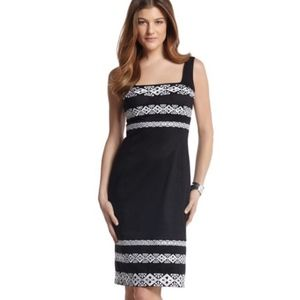 White House Black Market Embroidered Sheath Dress